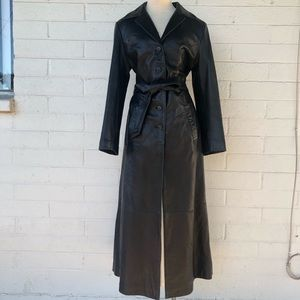 Jim & MaryLou ~ Leather Trench Coat